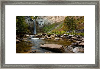 Early Autumn Morning At Taughannock Falls Framed Print