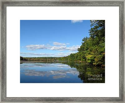 Early Autumn Scituate Reservoir Framed Print