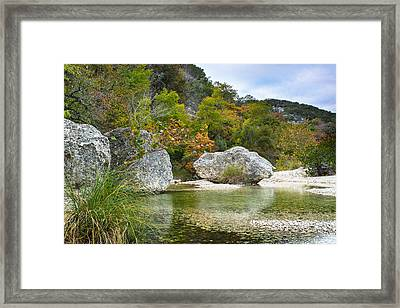 Early Autumn In Texas Hill Country Framed Print by Ellie Teramoto
