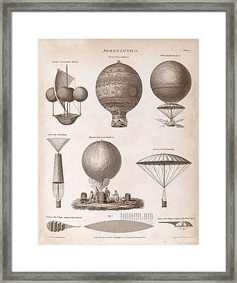Early Balloon Designs Framed Print by Middle Temple Library
