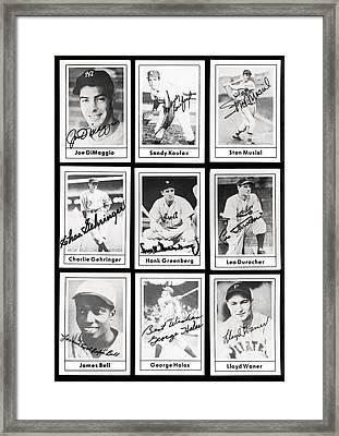 Early Baseball Legends Framed Print by Daniel Hagerman