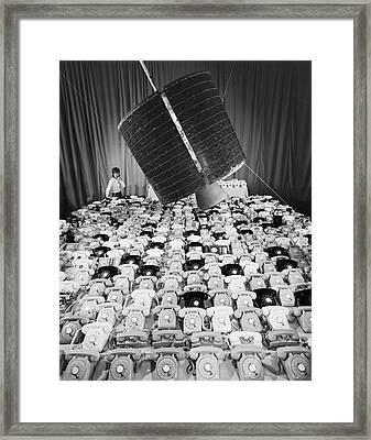 early Bird Satellite System Framed Print