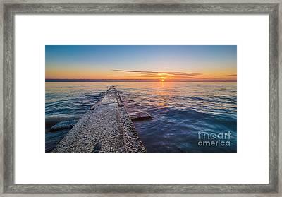 Early Breakwater Sunrise Framed Print