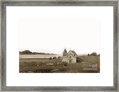 Early Carmel Mission And Point Lobos California Circa 1884 Framed Print