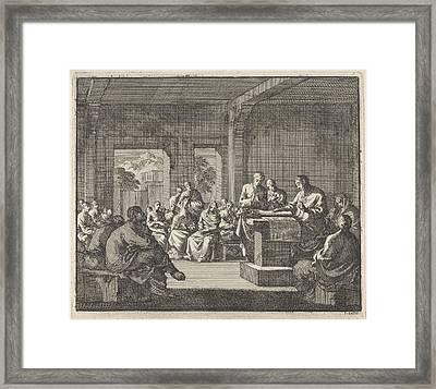 Early Christian Community Listening To A Reading Framed Print