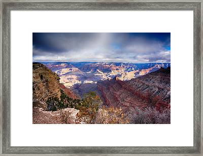 Early Clouds Over Hopi Point Framed Print by Lisa  Spencer