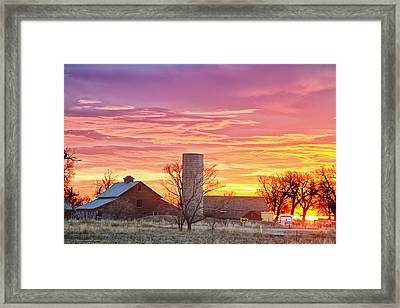 Early Country Morning Sunrise Framed Print by James BO  Insogna
