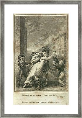 Early Depravity Framed Print by British Library