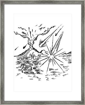 Early Earth Framed Print by Richard Bizley