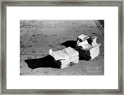 Framed Print featuring the photograph Early Edition by Tom Brickhouse