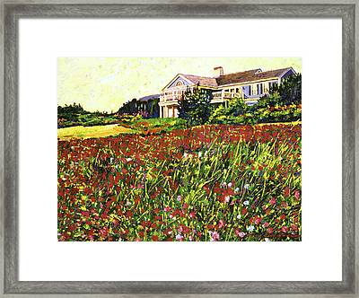 Early Evening At Cape Cod Framed Print by David Lloyd Glover