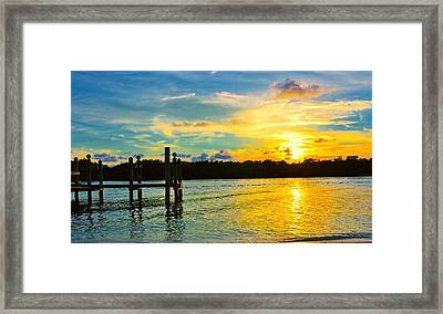Early Evening On Sombrero Beach Framed Print