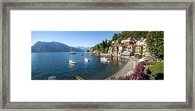 Early Evening View Of Waterfront Framed Print by Panoramic Images