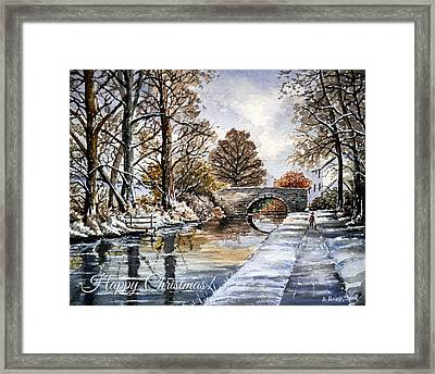 Early Fall At Mortimers Bridge The Mon And Brecon Canal Framed Print