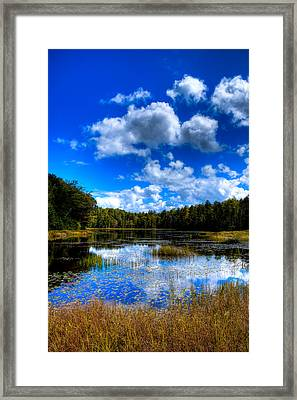Early Fall Color On Fly Pond - Old Forge New York Framed Print