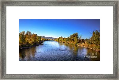 Early Fall On The Payette River Framed Print
