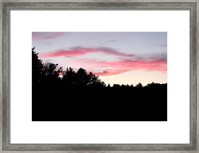 Early Fall Sky Ix Framed Print by Brian Lucia
