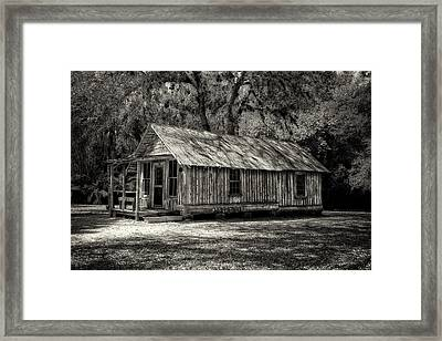 Early Florida Cottage - Circa 1903 Framed Print