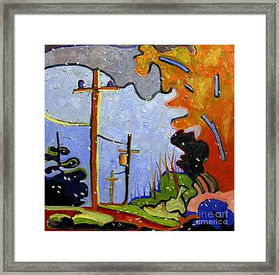 Early Flurry Framed Print by Charlie Spear