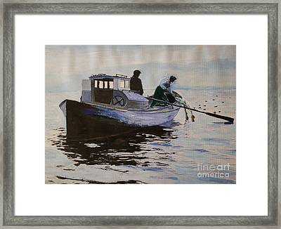 Early Gillnetter At Work Framed Print