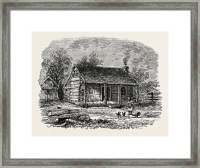 Early Home Of Abraham Lincoln, Gentryville Framed Print by American School