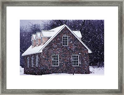Framed Print featuring the photograph Early January Snow In Maryland by Andy Lawless