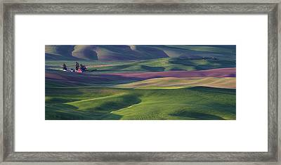 Early Light In The Palouse Framed Print by Latah Trail Foundation