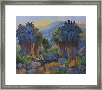Early Light Indian Canyon Framed Print by Diane McClary