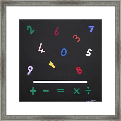Early Maths In Color Framed Print