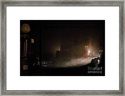Early Misty Morning In Jerome Az Framed Print
