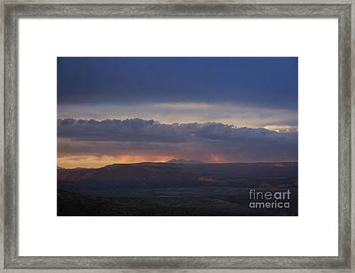 Early Monsoon Sunset Over San Francisco Peaks Framed Print