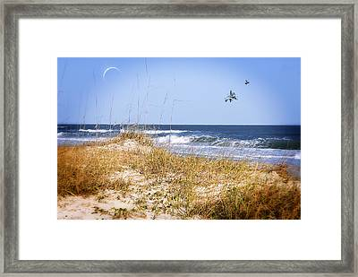 Early Moon Framed Print by Mary Timman