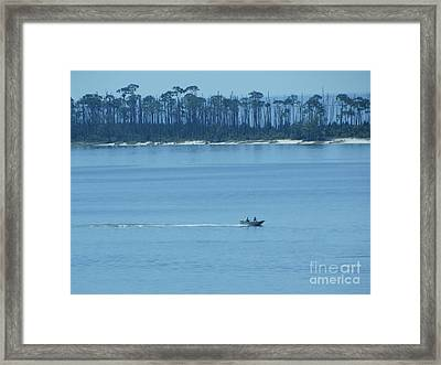 Early Moring Boaters Framed Print by Joseph Baril
