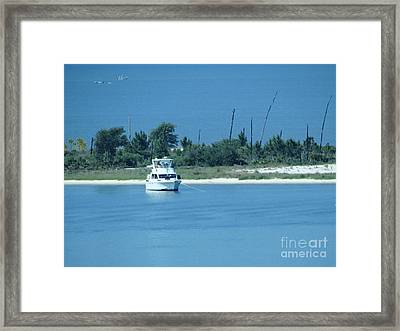 Early Morning Anchored Framed Print by Joseph Baril