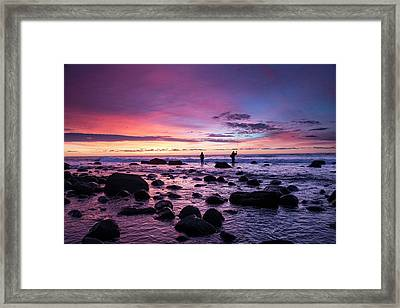 Early Morning Anglers Attempt A Good Framed Print by Robbie George