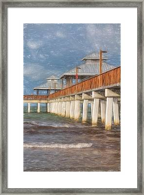 Early Morning At Fort Myers Beach Framed Print by Kim Hojnacki