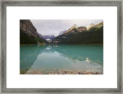 Early Morning At Lake Louise Framed Print by Teresa Zieba