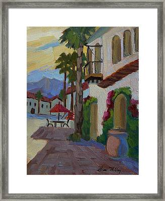 Early Morning At Old Town La Quinta Framed Print by Diane McClary