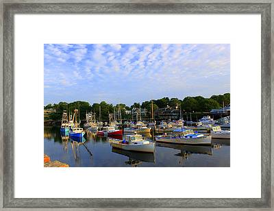 Early Morning At Perkins Cove Framed Print