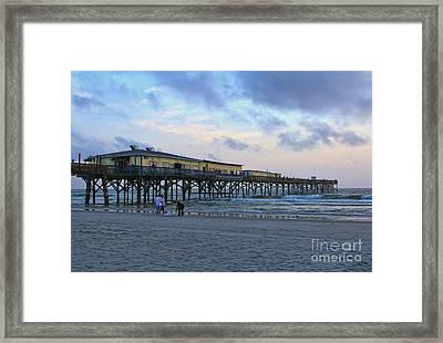 Early Morning At Sun Glow Pier Framed Print by Deborah Benoit