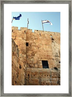 Framed Print featuring the photograph Early Morning At The Jaffa Gate by Doc Braham