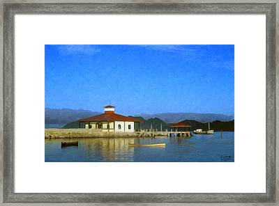 Early Morning At The Lake Framed Print by Spyder Webb