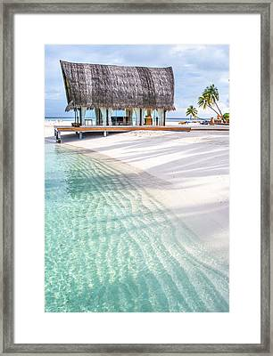 Early Morning At The Maldivian Resort 1 Framed Print by Jenny Rainbow
