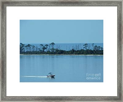Early Morning Boating Framed Print by Joseph Baril