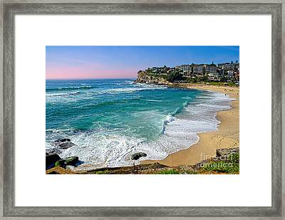 Early Morning Bronte Beach By Kaye Menner Framed Print