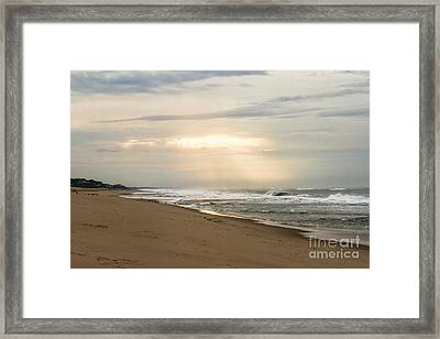Early Morning By The Shore  Framed Print