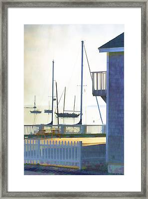 Early Morning Camden Harbor Maine Framed Print by Carol Leigh