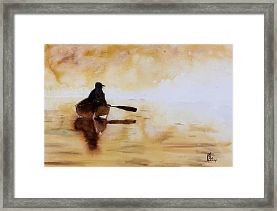 Early Morning Canoe Framed Print