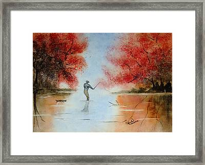 Morning Cast Framed Print