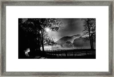 Early Morning Drive. Framed Print